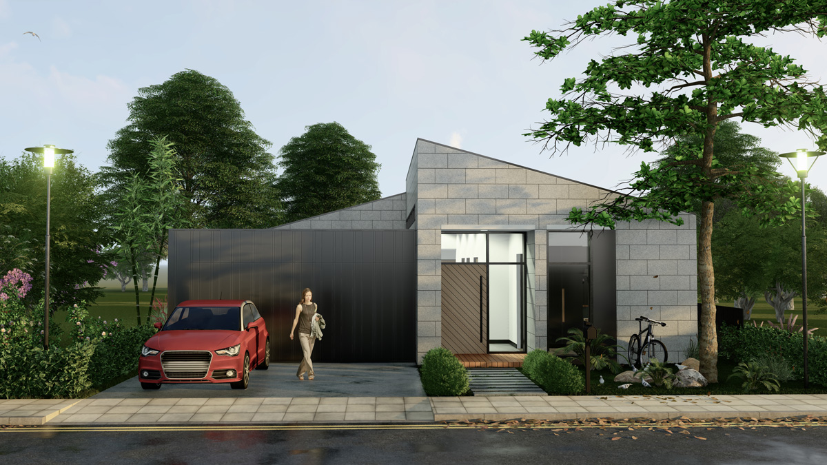 KAYA Facade Single Storey-Modern House And Land Packages Melbourne