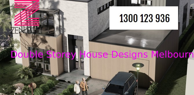 modern double storey house designs in Melbourne